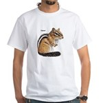 Ground Squirrel Chipmunk (Front) White T-Shirt