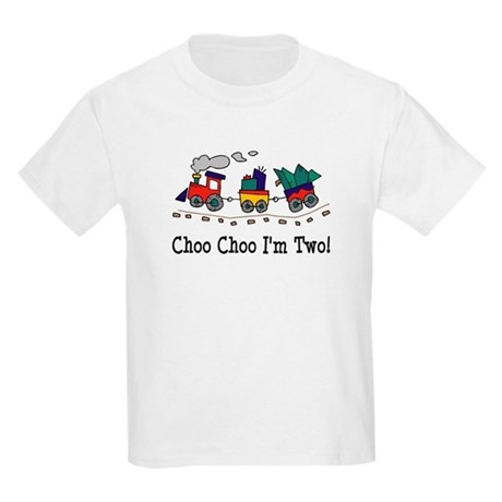 Choo Choo I'm 2 Kids Light T-Shirt