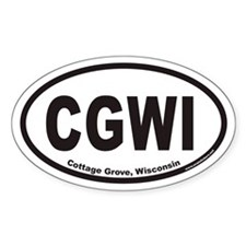 Cottage Grove CGWI Euro Oval Decal
