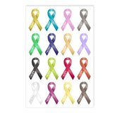 Support Ribbons Postcards (Package of 8)