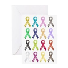 Support Ribbons Greeting Card