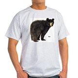 Black Bear (Front) Ash Grey T-Shirt