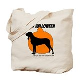 Black and Tan Halloween Tote Bag