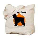 Blk Russian Terrier Halloween Tote Bag