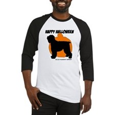 Blk Russian Terrier Halloween Baseball Jersey