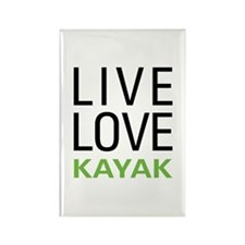 Live Love Kayak Rectangle Magnet