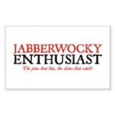 Jabberwocky Enthusiast Rectangle Decal