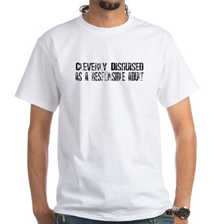 Responsible Adult White T-Shirt