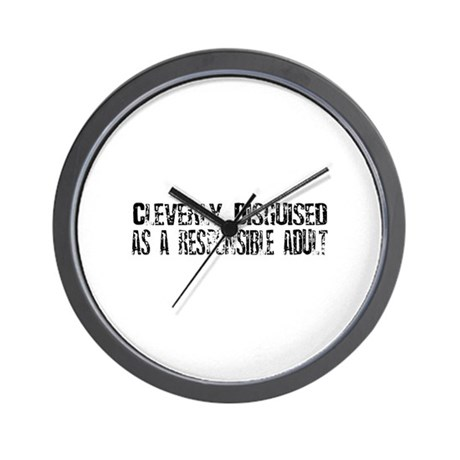 Responsible Adult Wall Clock