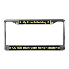 Honor Student French Bulldog License Plate Frame