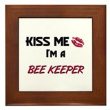 Kiss Me I'm a BEE KEEPER Framed Tile