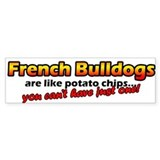 Potato Chips French Bulldog Bumper Bumper Sticker