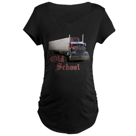 Old School Maternity Dark T-Shirt
