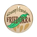 Fried Okra  Ornament (Round)