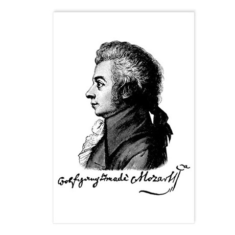 Wolfgang Amadeus Mozart Postcards (Package of 8)