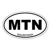 Mauritania Oval Decal