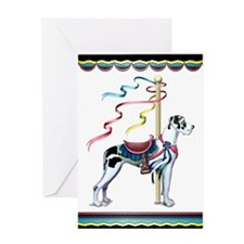 Great Dane Harle UC Carousel Greeting Card