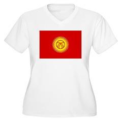 Kyrgyzstan Republic Women's Plus Size V-Neck T-Shi