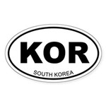 South Korea Oval Sticker
