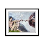 Creation/Labrador (Y) Framed Panel Print