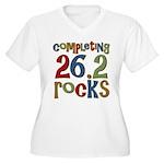 Completing 26.2 Rocks Marathon Run Women's Plus Si