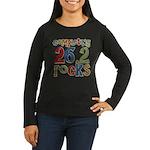 Completing 26.2 Rocks Marathon Run Women's Long Sl