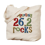 Completing 26.2 Rocks Marathon Run Tote Bag