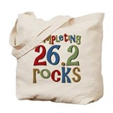 Completing 26.2 Rocks Marathon Run Tote Bag