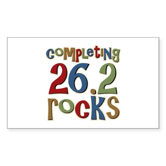 Completing 26.2 Rocks Marathon Run Sticker (Rectan