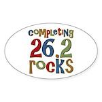 Completing 26.2 Rocks Marathon Run Oval Sticker