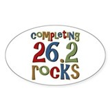 Completing 26.2 Rocks Marathon Run Oval Decal