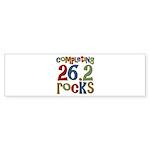 Completing 26.2 Rocks Marathon Run Sticker (Bumper