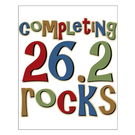 Completing 26.2 Rocks Marathon Run Small Poster