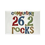 Completing 26.2 Rocks Marathon Run Rectangle Magne