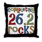 Completing 26.2 Rocks Marathon Run Throw Pillow