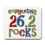 Completing 26.2 Rocks Marathon Run Mousepad