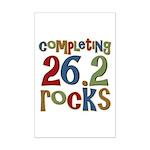 Completing 26.2 Rocks Marathon Run Mini Poster Pri