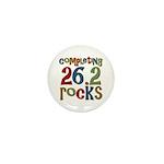 Completing 26.2 Rocks Marathon Run Mini Button (10