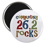 "Completing 26.2 Rocks Marathon Run 2.25"" Magnet (1"