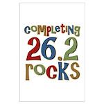 Completing 26.2 Rocks Marathon Run Large Poster