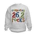 Completing 26.2 Rocks Marathon Run Kids Sweatshirt