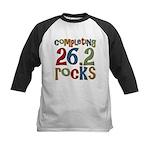 Completing 26.2 Rocks Marathon Run Kids Baseball J