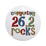Completing 26.2 Rocks Marathon Run Ornament (Round