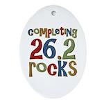 Completing 26.2 Rocks Marathon Run Oval Ornament