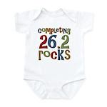 Completing 26.2 Rocks Marathon Run Infant Bodysuit