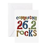 Completing 26.2 Rocks Marathon Run Greeting Cards