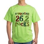 Completing 26.2 Rocks Marathon Run Green T-Shirt