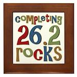 Completing 26.2 Rocks Marathon Run Framed Tile