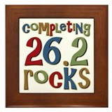 Completing 26.2 Rocks Marathon Run Framed Tile
