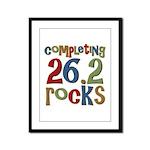 Completing 26.2 Rocks Marathon Run Framed Panel Pr
